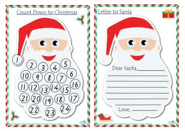 dear santa letter template free - the ultimate christmas printable activity pack learning