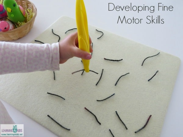Developing fine motor skills through fun and motivating activities