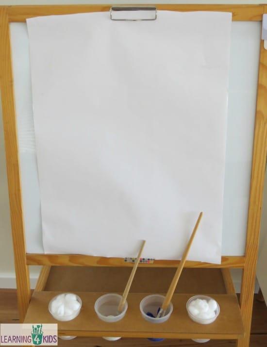 Easel activities for preschoolers, kindergarten and early childhood educators