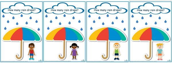 How many raindrops game templates counting numbers 1 -10 (600)