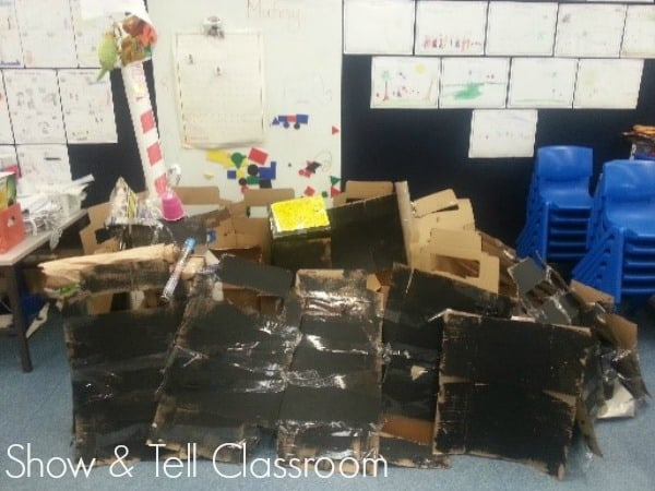 Recycled Junk in our room- Show & Tell Classroom. Image credit Justine Moorman
