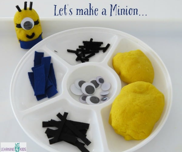 Let's make a minion - simple and fun play dough activity for kids