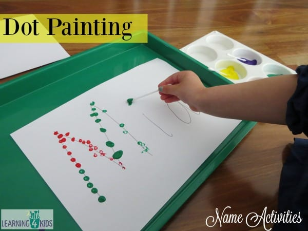 List of name activities - 1. Dot Painting