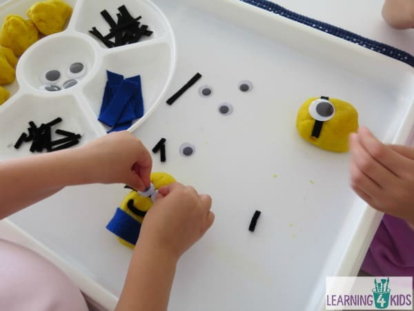 Minion activities - lets make a play dough minion - so simple