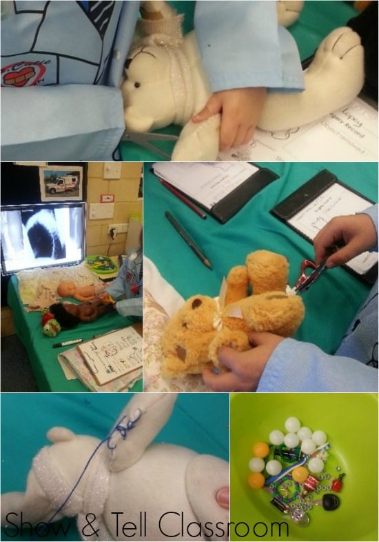 Open Bear Surgery Pretend Play Home Corner.  Show & Tell Classroom. Image credit Justine Moorman