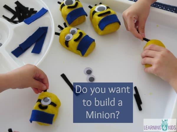 Play dough fun - do you want to build a minion