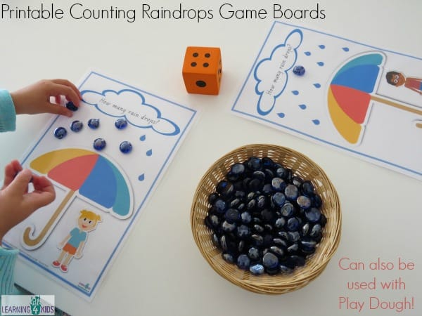 Printable Counting and Subitising Game Boards - super fun