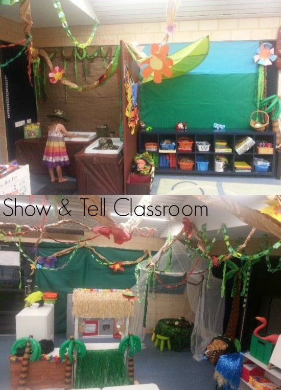 Welcome to our Jungle Theme Classroom - Show & Tell Classroom. Image credit Justine Moorman