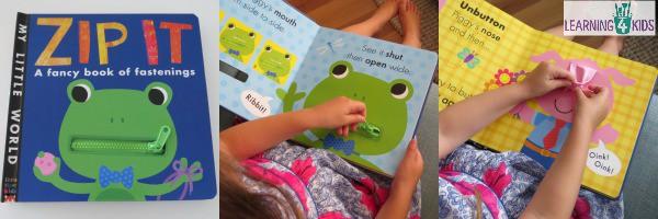 Z is for Zip It Zipper Board   Learning 4 Kids
