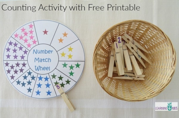 Counting Activity with free printable