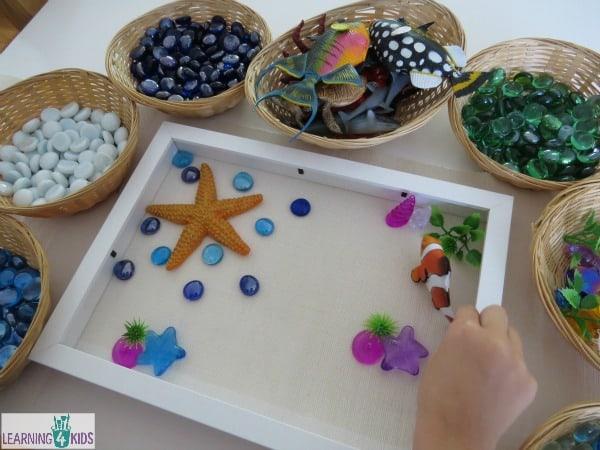 Ocean Theme Transient Art Activity Learning 4 Kids