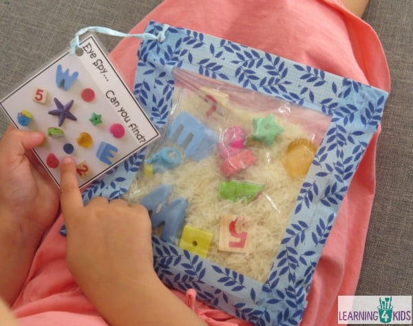 Homemade Eye Spy Sensory Bag