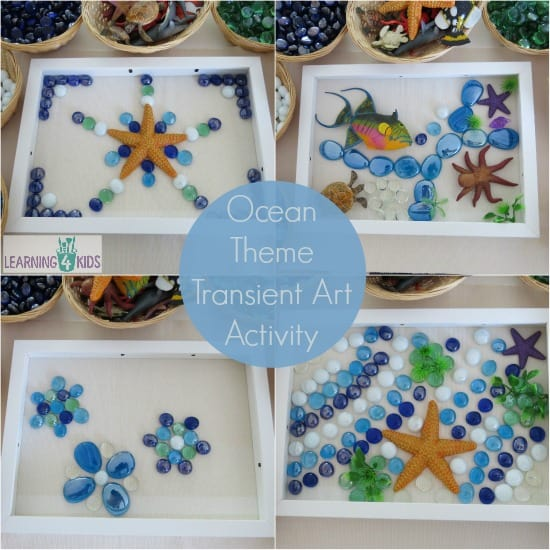 Ocean Theme Transient Art Activity- explore and create with a range of 'ocean theme' resources.