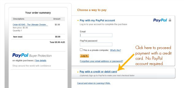 PayPal option with credit cards