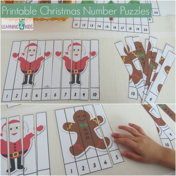 ... Christmas Printable Activity Pack . 4 of the puzzles are numbers 1-10