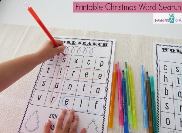 Printable Christmas Word Search