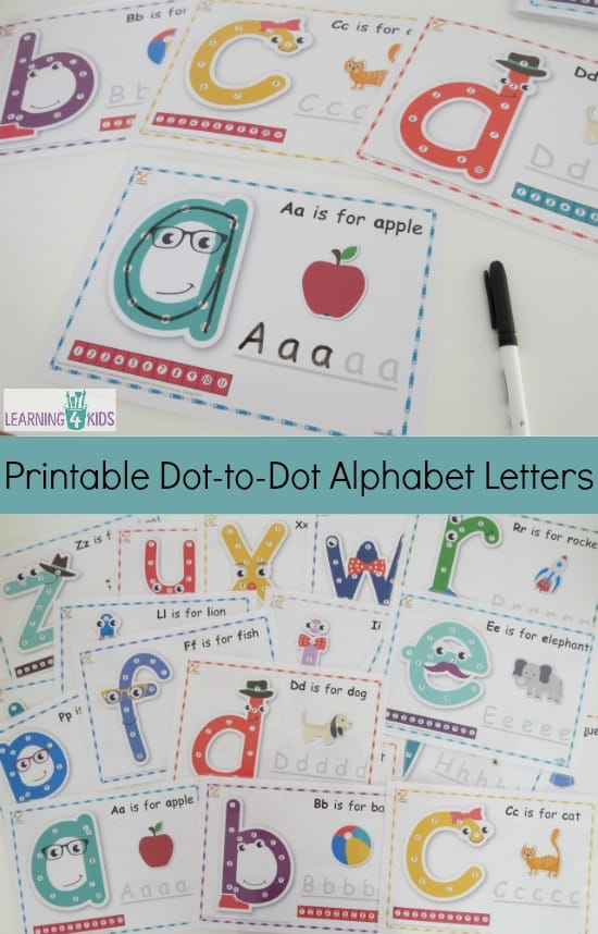 how to write alphabets for kids
