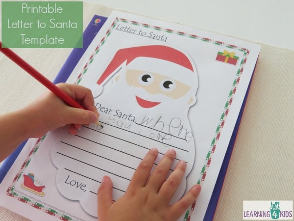 Printable Letter to Santa Template