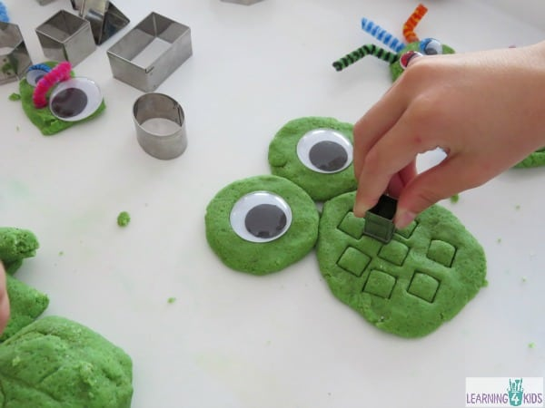 Sandy Play Dough Shape Monsters - play activity