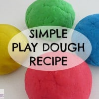 Everyone has their favourite play dough recipe and this one is mine! It is easy to adapt to add scent or texture. Simple Play dough Recipe - my favourite go to play dough recipe!