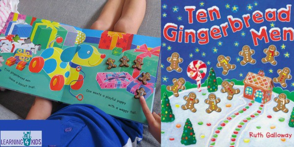 Ten Gingerbread Men by Ruth Galloway - counting christmas book