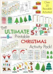 The Ultimate Christmas Printable Activity Pack - 100 pages, over 20 reusable activities, worksheets, games, templates and so much more by Learning 4 Kids