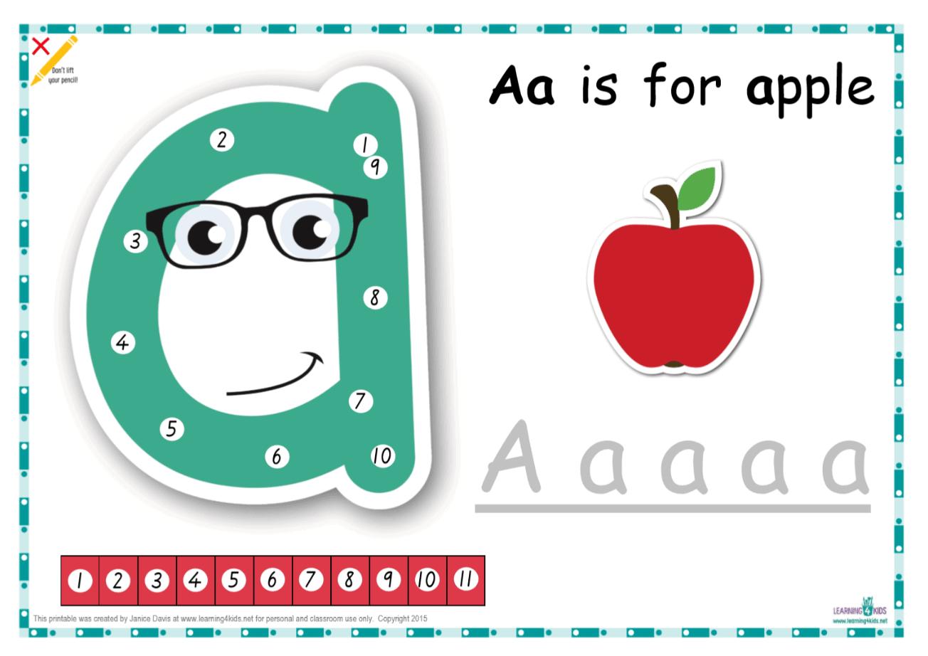 Dot-to-Dot Alphabet Letter Charts