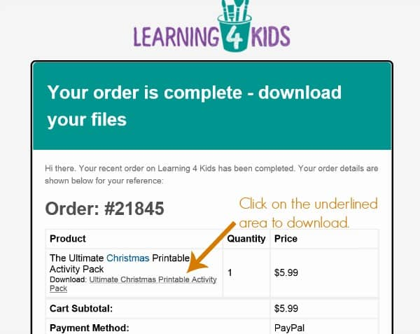 how to download your printable purchase
