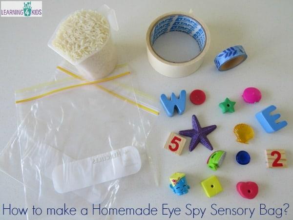 Homemade Eye Spy Sensory Bag Keeping Kids Occupied In
