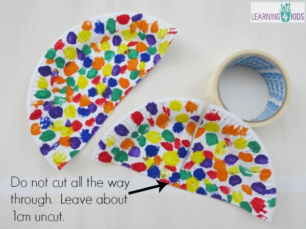 how to make an umbrella craft Save. Cut the paper plate ...  sc 1 st  Learning 4 Kids & Paper Plate Umbrella Craft | Learning 4 Kids
