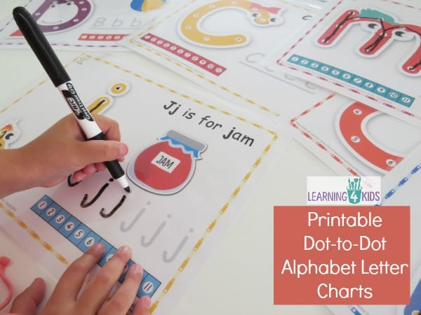 Printable Dot To Dot Alphabet Letter Charts