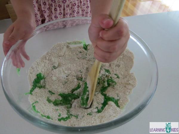 sandy play dough