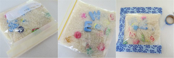 step by step guide on how to make a homeamde eye-spy sensory bag