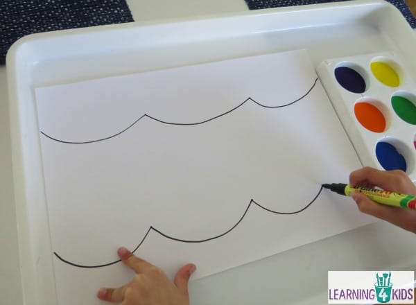 Finger painting activity - finger painting festive lights