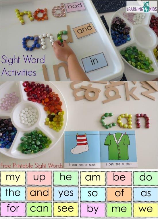 sight interactive sight sight  interactive word cards word and hands activities word on, activities