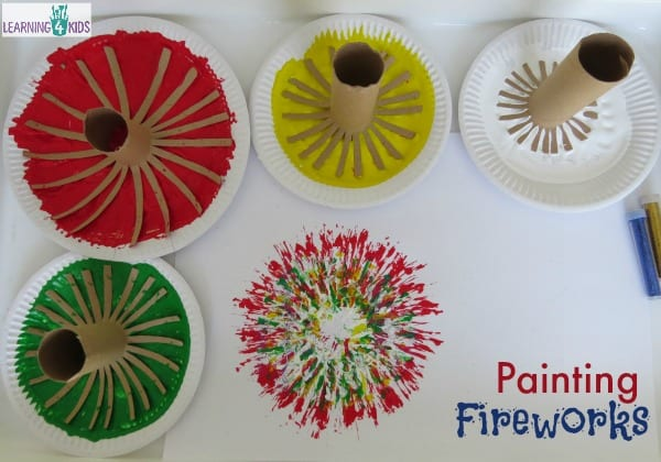 Invitation to paint fireworks - new year's activity
