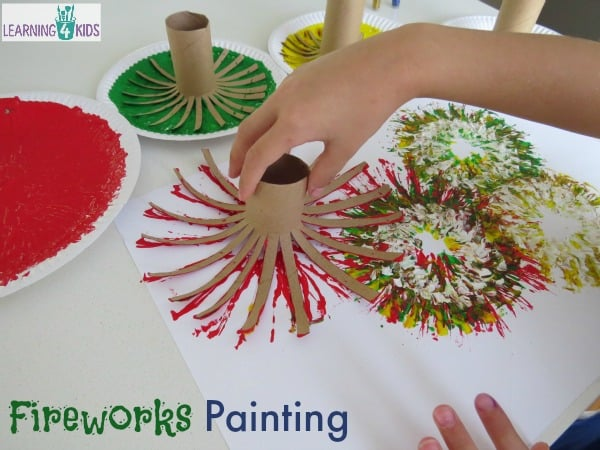 Painting Fireworks | Learning 4 Kids