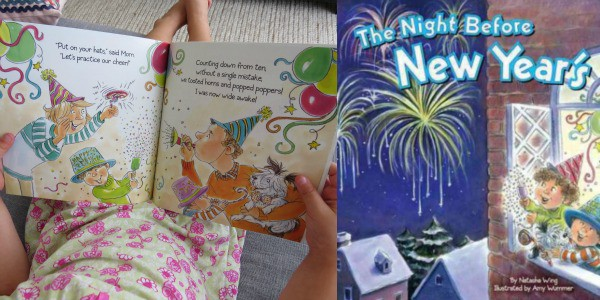 New Year's, Celebration or Fireworks story books for Kids.  The Night Before New Year's by Natasha Wing