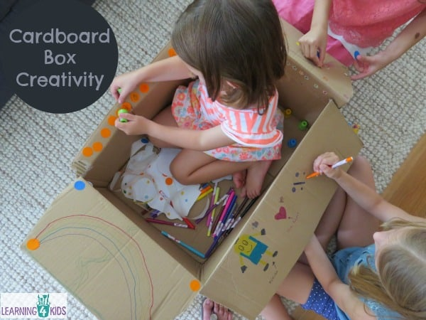 Cardboard Box Creativity - another fun way children can play with a cardboard box.  The ideas are endless!