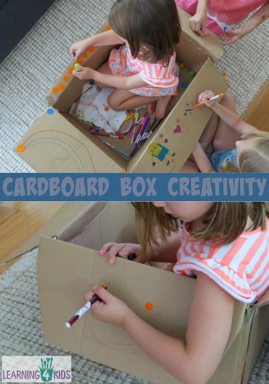 Cardboard Box Creativity - another way to play with a cardboard box.