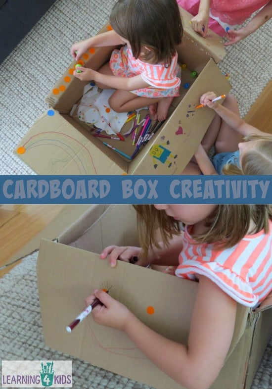 Cardboard Box Creativity - another way to play with a cardboard box.