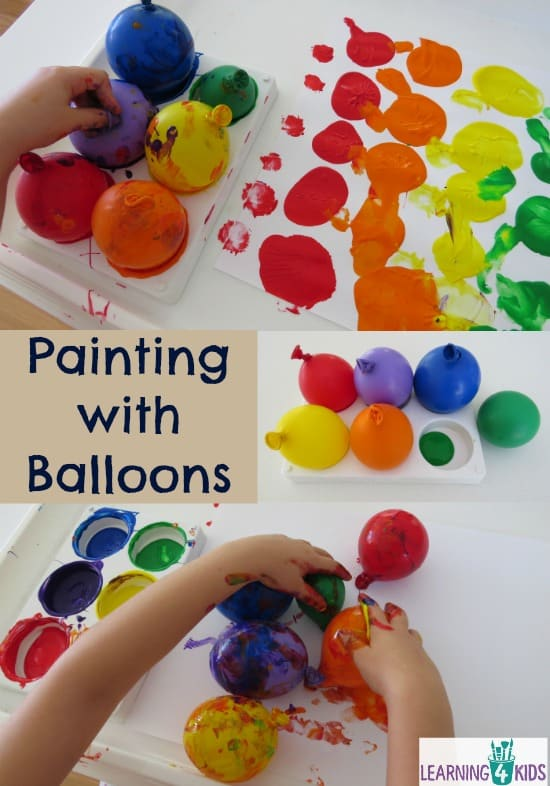 Painting with Balloons | Learning 4 Kids