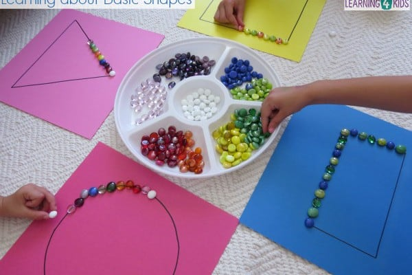 Basic Shapes Work Station Or Centre Activity
