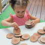 396218 Natural Wooden Tree Cookies Set of 30