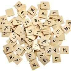 Wooden Letter Tiles Pack of 93