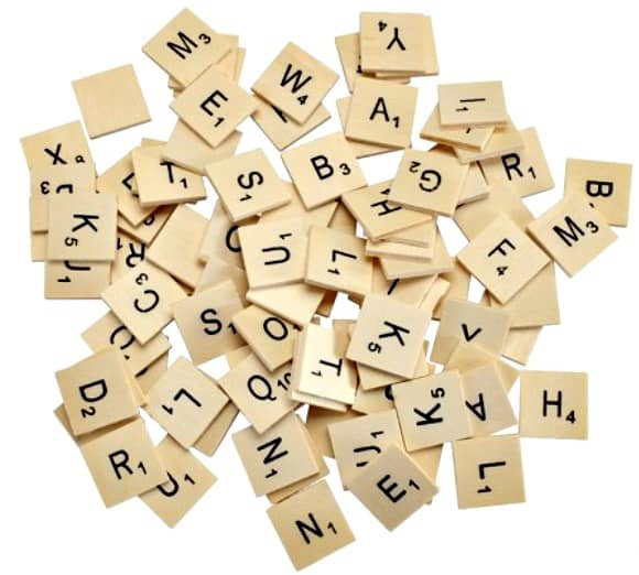 Wooden Letter Tiles Pack of 93