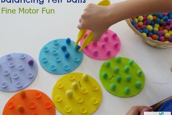 Balancing Felt Balls Fine Motor Fun Learning 4 Kids