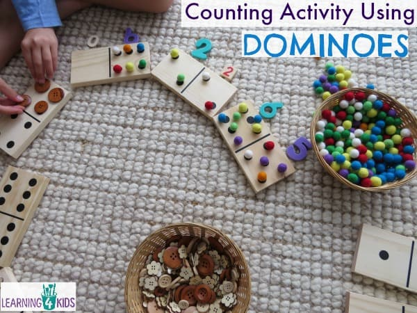 Counting Activity Using Large Wooden Domino Blocks
