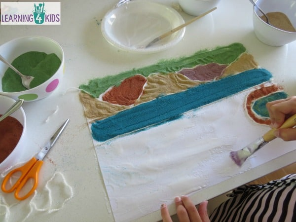 Creative Sand Art - creating landscapes inspired by Magic Beach by Alison Lester