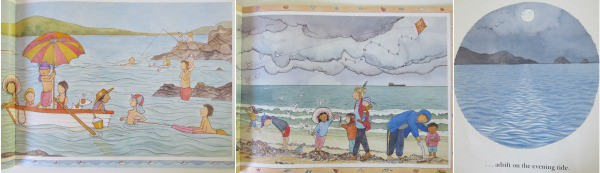Different landscapes in the story Magic Beach by Alison Lester